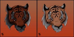 Tiger head by tigerallied