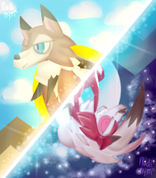 .:Lycanroc:. Midday and Midnight by Vladinym