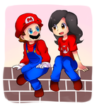 .: AT : Mario and Eve :. by Finni-NF