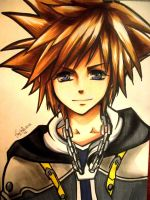 Sora - kingdom hearts by Sophie--Chan