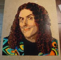 Weird Al Yankovic in Perler by KingArtX