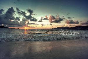sunset at patong beach by ahmedwkhan