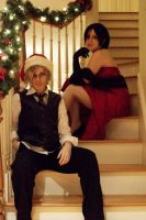 Season's Greetings from Leon and Ada by BleachcakeCosplay