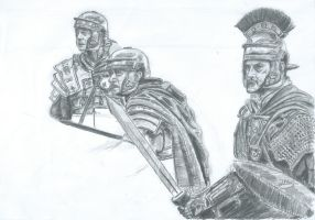 progress with my draw about romans by javierms95