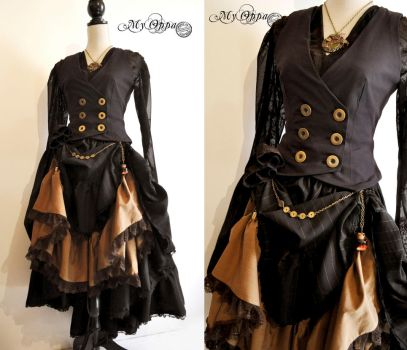 Costume autumn steampunk by myoppa-creation