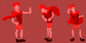Colors Personified: Red (Male) by bulgariansumo