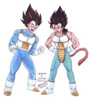 Vegeta and Vitani by hirokada
