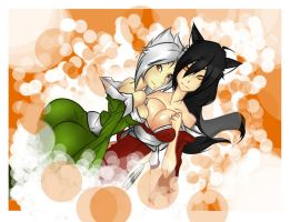 Ahri and Riven by shekony