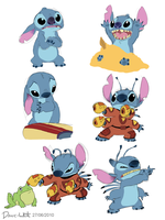 Stitch Sketches by Dave-White