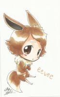 Skyfinder Commission- Pouty Eevee by BishopBlitz