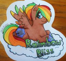 Rainbow Bliss Badge - Contest Entry by Sparkle-And-Sunshine