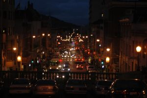 SF Street at Night by TheBothan