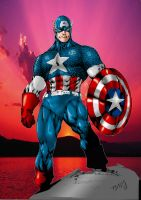 capitan america by Ed Benes by tony058