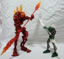 Bionicle MOC - The two Rahkshi by Alex-Darkrai