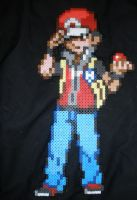 Red, Perler Beads by DarkTangrowth