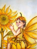 sunflower baby fae-detail by bloodylady