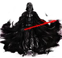 Darth Vader in ink by Suttida