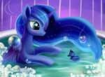 Luna's bath by Incinerater