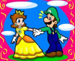 Luigi and Daisy by Nintendrawer