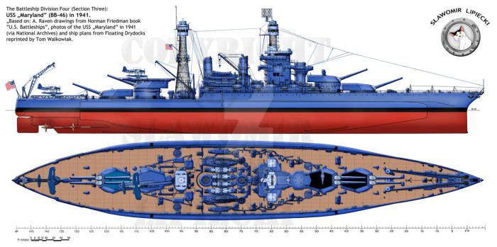 USS Maryland in 1941 by Lioness-Nala