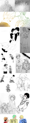 One Piece Sketch Dump by Past-Chaser