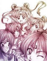 sailor moon group pic by reirei18