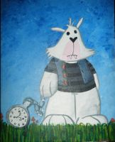white rabbit by messypink