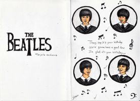 The Beatles Birthday Card by Andreth
