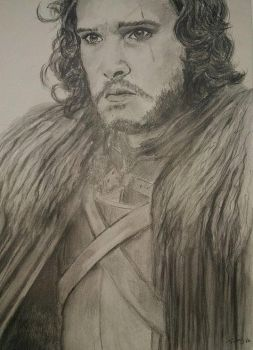 Jon Snow 1 by Powerfulwoodelf
