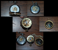 Steampunk Trinkets by F-TheMainstream