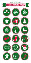 Free Vector Christmas Icons 2012 by Designbolts