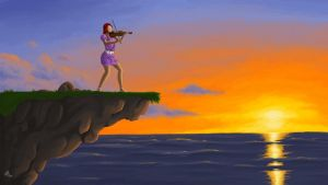 Violinist Sunset by Tobsen85