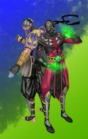 Request - Rain, Ermac. by Kachakacha