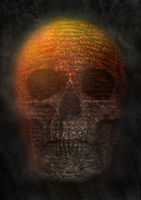 Typography Skull - Colorful by snugsomeone