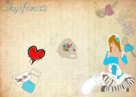 Alice in Wonderland Collage by AeliaNaqwiDesigns