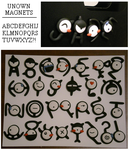Unown Magnets by Foureyedalien