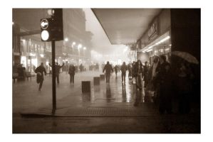 Argyle Street In A Downpour by paddimir