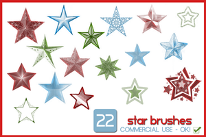 22 Star Brushes by gollygirls