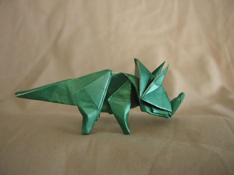 Origami Triceratops - DRAFT by DonyaQuick