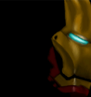 Gif Man Of Iron progress Painting by AStolenRelic
