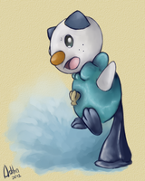 Aqua tail: Oshawott by light-askha
