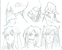 A bunch of busts -WIP- by Deathbringer22