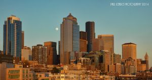 Moonrise At Seattle by SilentMobster42