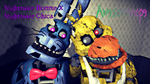 [Request] Nightmare Bonnie X Nightmare Chica by Awesomenope
