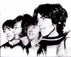 The Beatles by AZIZA-FEMI