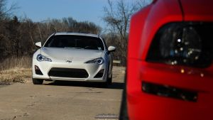 Scion FR-S and Red Mustang by joerayphoto