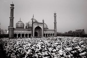 Eid.. Jama Masjid, New Delhi by sasonian37