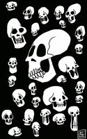 Skulls in bulk by surrealdeamer