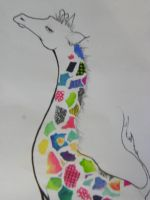 Patch work Giraffe by mouette-sky