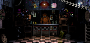 First Freddy Fazbear's Pizza office by FreddyFredbear